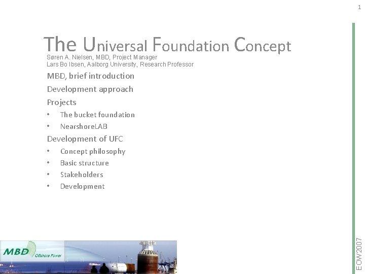 1 The Universal Foundation Concept Sren A Nielsen