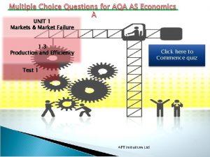 Multiple Choice Questions for AQA AS Economics UNIT