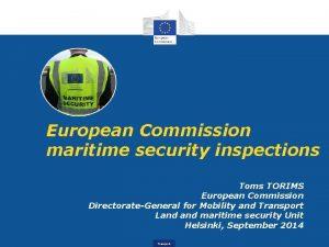 European Commission maritime security inspections Toms TORIMS European