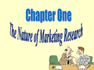 The Nature of Marketing Research Marketing research is