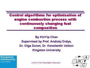 Control algorithms for optimisation of engine combustion process