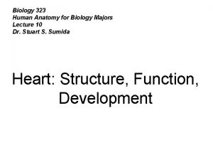 Biology 323 Human Anatomy for Biology Majors Lecture