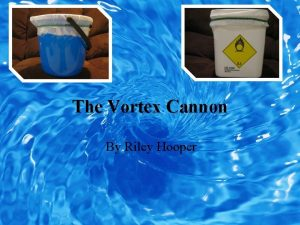 The Vortex Cannon By Riley Hooper Introduction Welcome