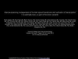 Alaninescanning mutagenesis of human signal transducer and activator