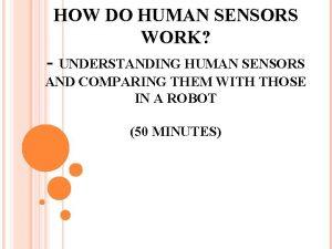 HOW DO HUMAN SENSORS WORK UNDERSTANDING HUMAN SENSORS