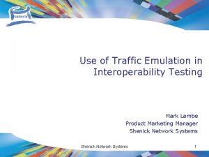 Use of Traffic Emulation in Interoperability Testing Mark