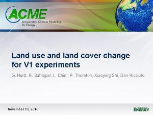 Land use and land cover change for V