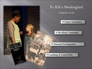 To Kill a Mockingbird Chapters 12 15 Chapter