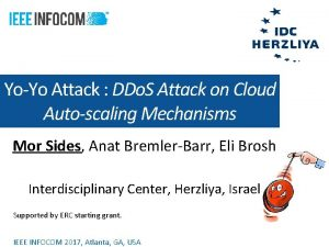 YoYo Attack DDo S Attack on Cloud Autoscaling