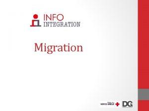 Migration InfoIntegration Mrz 2019 1 Welche Mglichkeiten gibt