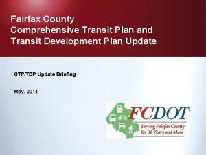 Fairfax County Comprehensive Transit Plan and Transit Development