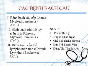 CC BNH BCH CU I Bnh bch cu