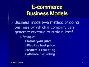 Ecommerce Business Models Business modelsa method of doing
