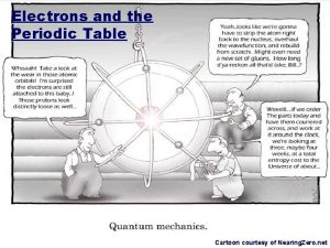 Electrons and the Periodic Table Cartoon courtesy of