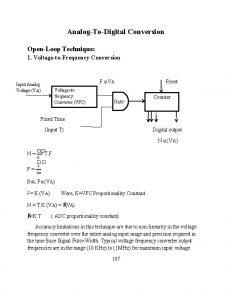 AnalogToDigital Conversion OpenLoop Technique 1 VoltagetoFrequency Conversion F