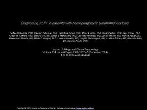 Diagnosing XLP 1 in patients with hemophagocytic lymphohistiocytosis