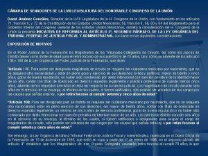 CMARA DE SENADORES DE LA LVIII LEGISLATURA DEL