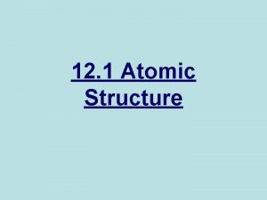 12 1 Atomic Structure Subatomic Particles Subatomic particles
