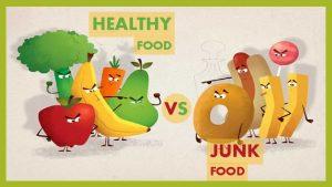 HEALTHY FOOD VS JUNK FOOD HEALTHY JUNK milk