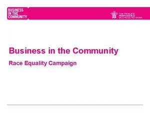 Business in the Community Race Equality Campaign Race