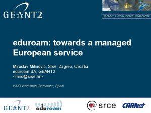 Connect Communicate Collaborate eduroam towards a managed European