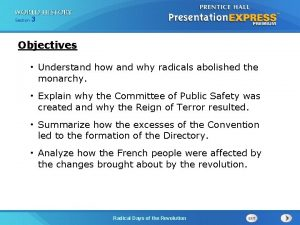 253 Section 1 Chapter Section Objectives Understand how