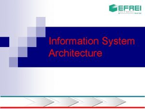Information System Architecture Information system n The data