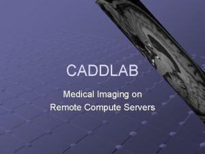 CADDLAB Medical Imaging on Remote Compute Servers Introduction