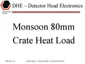 DHE Detector Head Electronics Monsoon 80 mm Crate