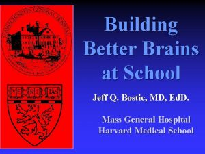 Building Better Brains at School Jeff Q Bostic