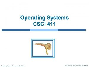 Operating Systems CSCI 411 Operating System Concepts 8