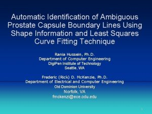 Automatic Identification of Ambiguous Prostate Capsule Boundary Lines