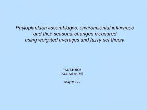 Phytoplankton assemblages environmental influences and their seasonal changes