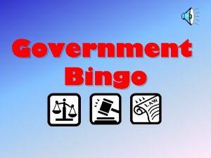 Government Bingo GOVERNMENT BINGO 1 6 11 16