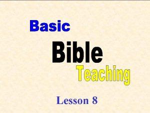 1 Lesson 8 2 Topic Outline Recap Last