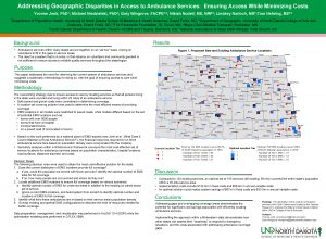 Addressing Geographic Disparities in Access to Ambulance Services