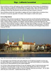 Riga Lettlands huvudstad Reviderad 2011 09 06 Riga