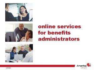 online services for benefits administrators GR 6858 online