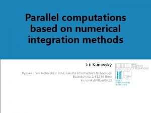 Parallel computations based on numerical Nadpis 1 integration