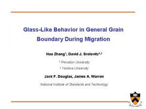 GlassLike Behavior in General Grain Boundary During Migration