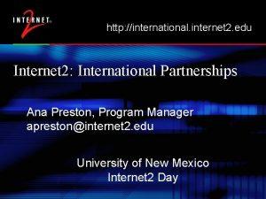 http international internet 2 edu Internet 2 International