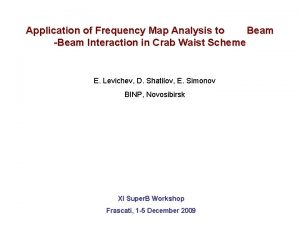 Application of Frequency Map Analysis to Beam Beam