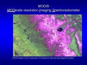 MODIS MODerate resolution Imaging Spectroradiometer MODIS false color