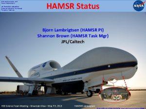 National Aeronautics and Space Administration Jet Propulsion Laboratory
