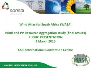 Wind Atlas for South Africa WASA Wind and