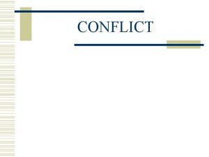 CONFLICT VIEWS OF HUMAN INTERACTION w Covey S
