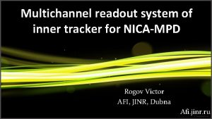 Multichannel readout system of inner tracker for NICAMPD