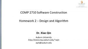 COMP 2710 Software Construction Homework 2 Design and