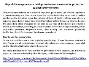 Map of divorce procedure with procedure on measures