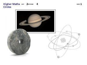 Higher Maths Circles 2 4 1 Higher Maths